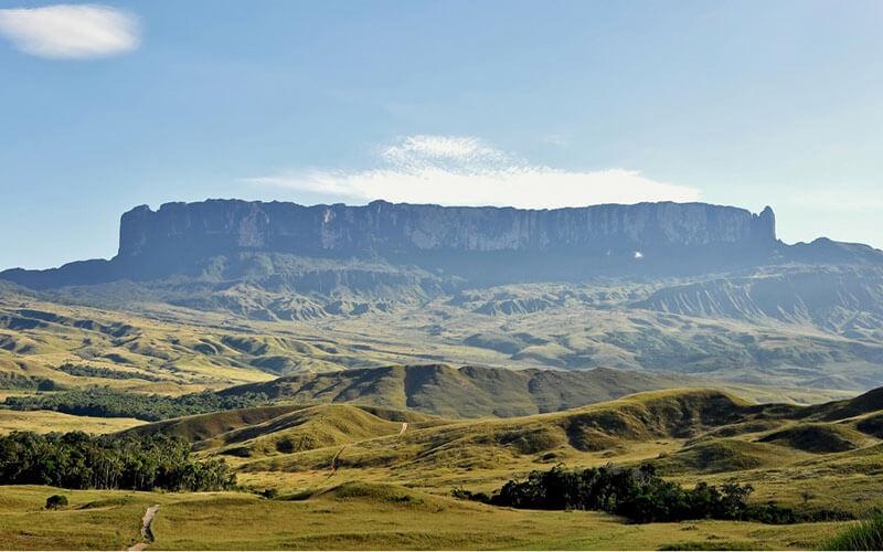 Monte Roraima é a maior montanha plana do Mundo