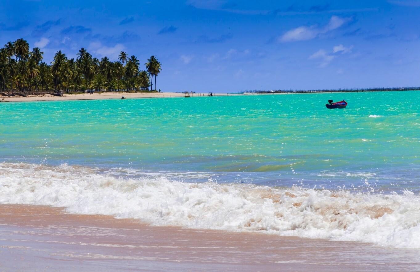 Praia de Ipioca em Maceió, Alagoas.,
