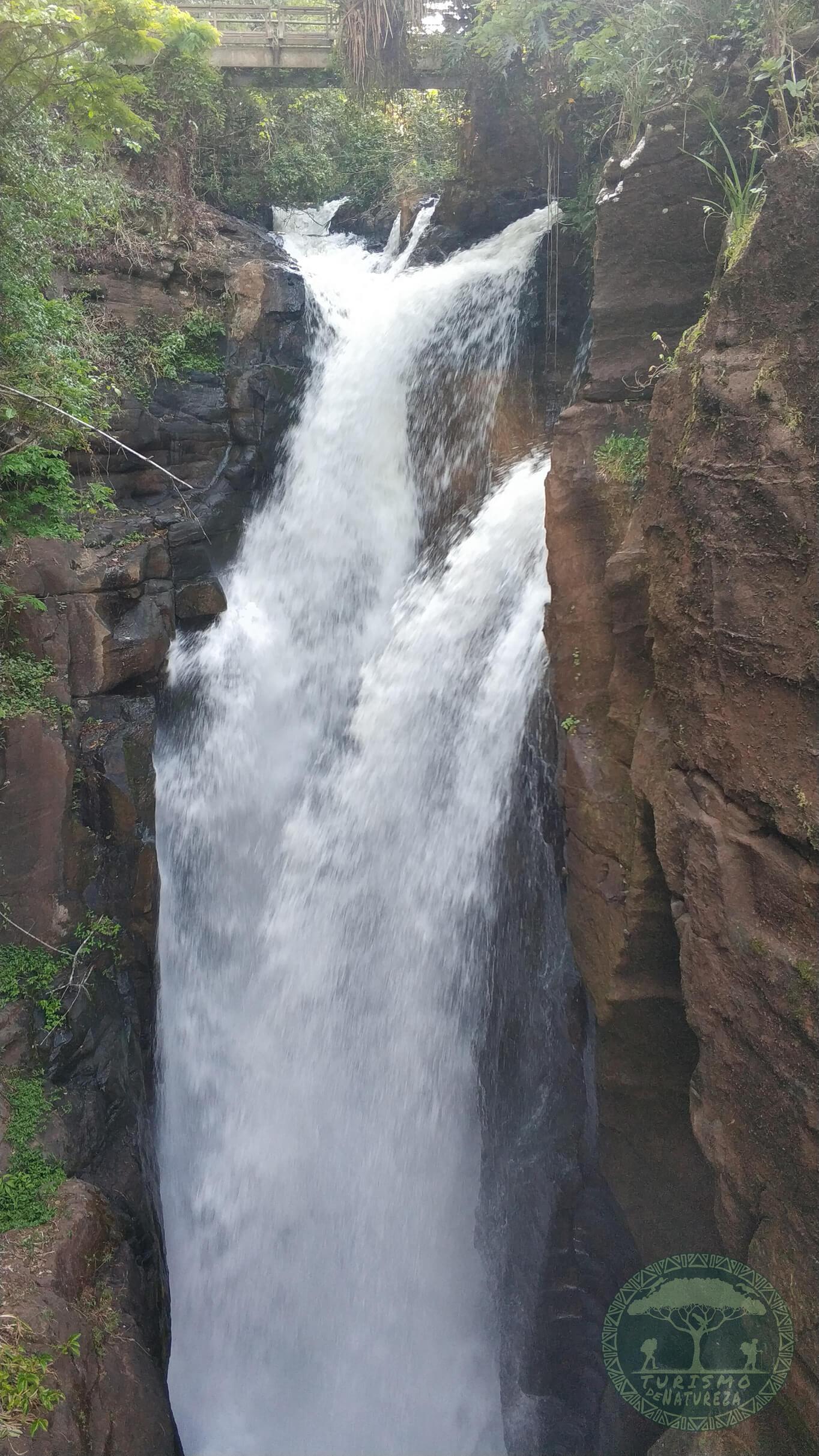 Cascata Arrechea nas cataratas do Iguazú argentino