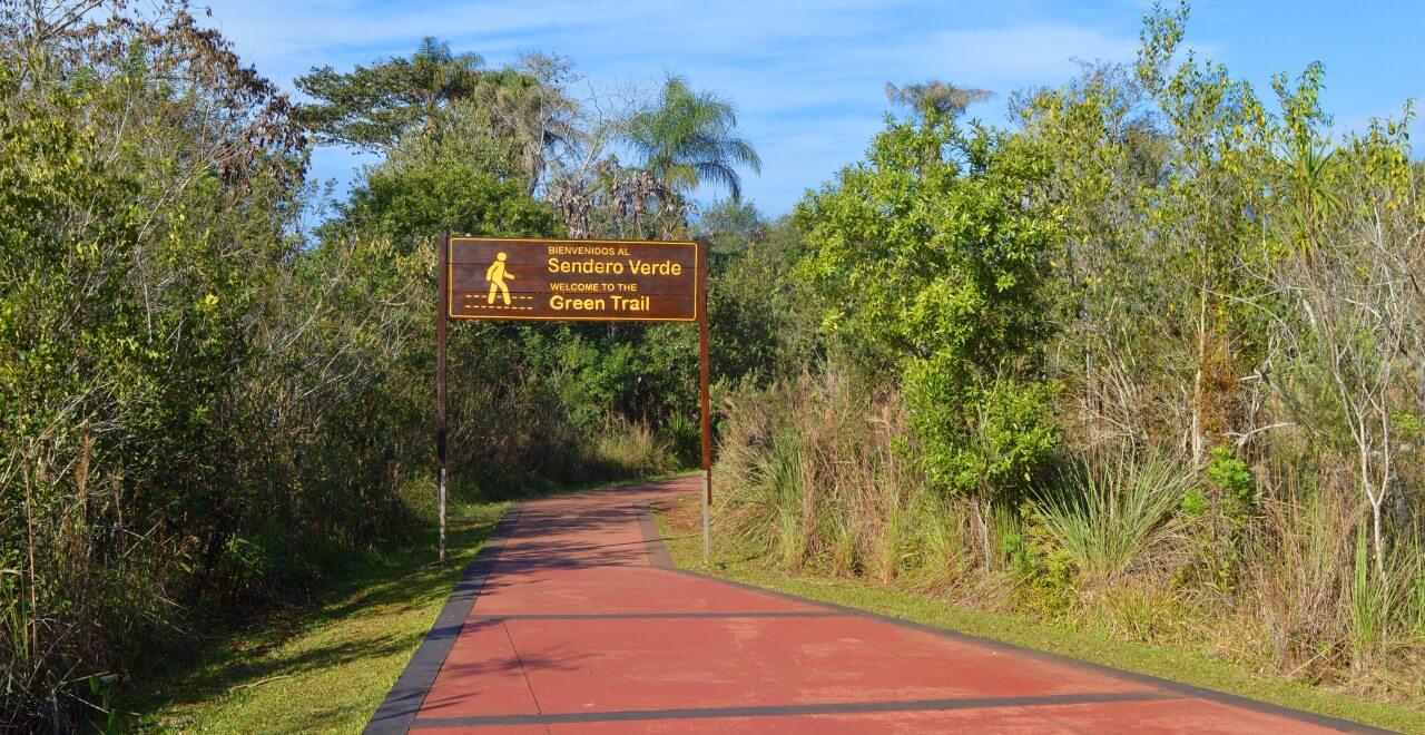 Trilha verde no Parque Nacional Iguazú