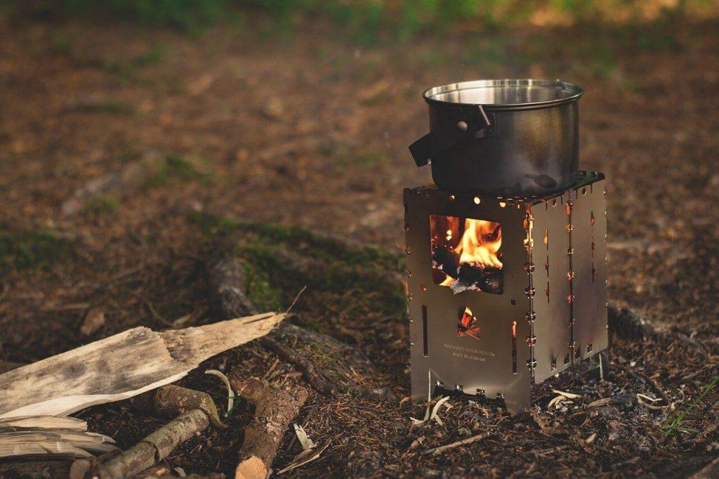Novos desafios, cozinhar em um camping
