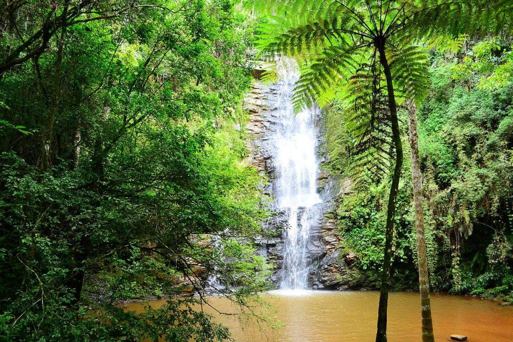 São Tomé das Letras: Cachoeira Antares.